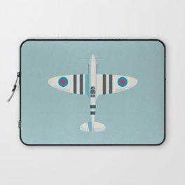 Supermarine Spitfire WWII RAF Royal Air Force Fighter Aircraft - Stripe Sky Laptop Sleeve