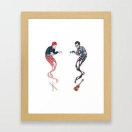 Spooky Ghosts Framed Art Print