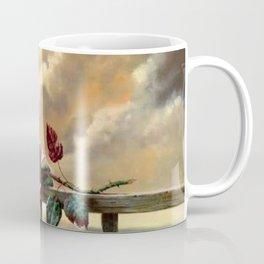 Rose on the parapet Coffee Mug