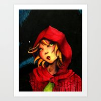 red riding hood Art Prints featuring Riding Hood by Mawhyah