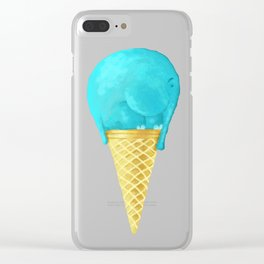 elefant icecream Clear iPhone Case