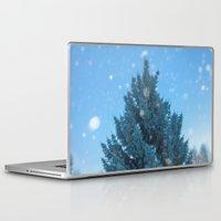 christmas tree Laptop & iPad Skins featuring Christmas tree  by Svetlana Korneliuk