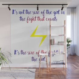 fight in the girl Wall Mural