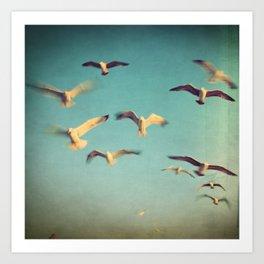 Dans Avec Les Oiseaux Art Print