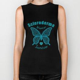 Scleroderma Warrior Survivor Lace Butterfly Biker Tank
