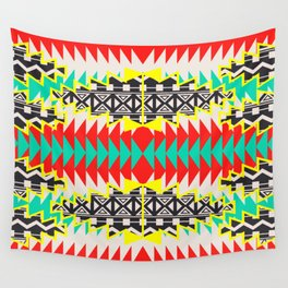 Tribal Beat Geo Neon Wall Tapestry