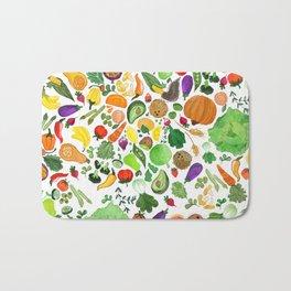 Fruit and Veg Pattern Bath Mat