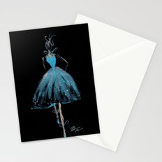 Blue and Light Haute Couture Fashion Illustration Stationery Cards