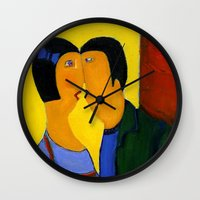 couple Wall Clocks featuring couple by agnes Trachet