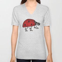 Ladybug Wearing Tap Shoes Gotta Dance Unisex V-Neck