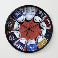 shoes Wall Clocks featuring Shoes by Giorgio Arcuri