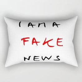 I am fake news Rectangular Pillow