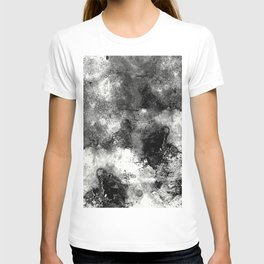Deja Vu - Black and white, textured painting T-shirt