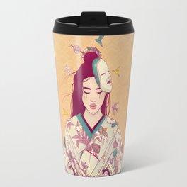 Origami Lady Travel Mug