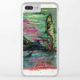 At The Shore of Dagon Clear iPhone Case