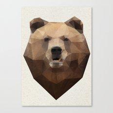 Bearrr Triangulation Canvas Print