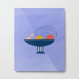 Still life - watermelon & citrus drawing Metal Print