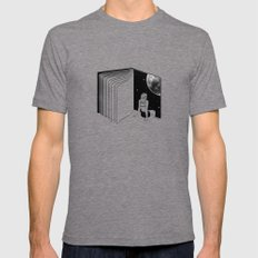Reading is Dreaming with Your Eyes Open LARGE Mens Fitted Tee Tri-Grey