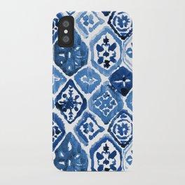 Arabesque tile art iPhone Case