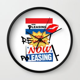NOW LEASING  Wall Clock