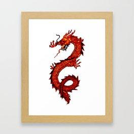 Mythical Red Dragon Framed Art Print