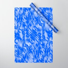 Fascinating smudges of diagonal delicate colors with blue. Wrapping Paper