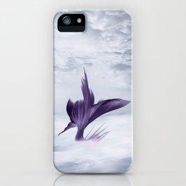 Mermaid Fantasy Ocean Seascape - Purple Mermaids iPhone Case