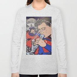 Super man bong dope Long Sleeve T-shirt