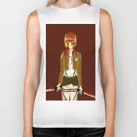 snk Biker Tanks featuring Bloody Armin by Paula Urruti