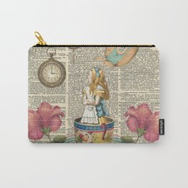 It's Always Tea Time - Alice In Wonderland Carry-All Pouch
