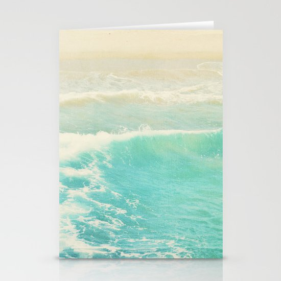 beach ocean wave. Surge. Hermosa Beach photograph Stationery Cards