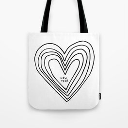 All Day. Every Day. Heartbeats for NYC. Tote Bag