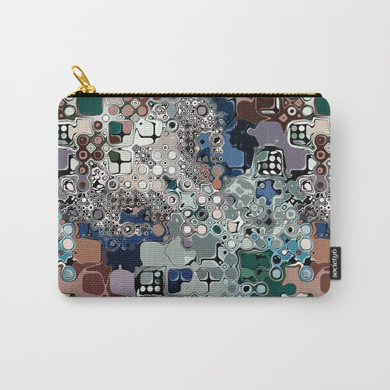 Colorful Chaotic Abstract Carry-All Pouch