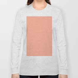 Simply Sweet Peach Coral Long Sleeve T-shirt