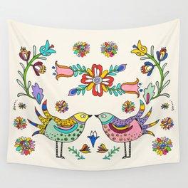 Papel Picado Birds Wall Tapestry