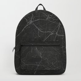 Silver Berlin City Map Backpack