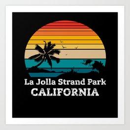 La Jolla Strand Park CALIFORNIA Art Print
