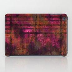Lined Rainbow Rusted Metal Look iPad Case