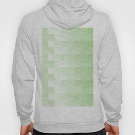Triangles in green tones with 3d depth effect Hoody