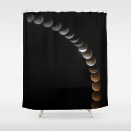 Super Blue Blood Moon Shower Curtain