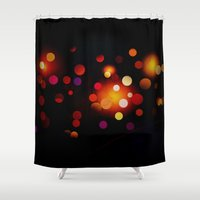 dots Shower Curtains featuring Dots by haroulita