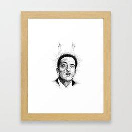 Salvador Dali scribble portrait Framed Art Print