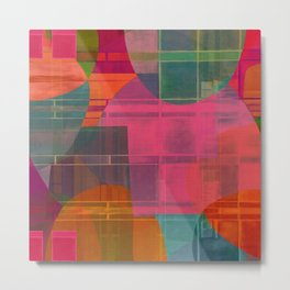 """Retro Pop Cubism"" Metal Print"