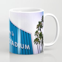 Welcome to Dodger Stadium | Los Angeles California Nostalgic Iconic Sign Sunset Art Print Tapestry Coffee Mug