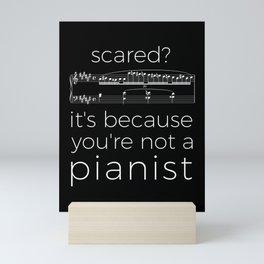 Fearless pianist (dark colors) Mini Art Print