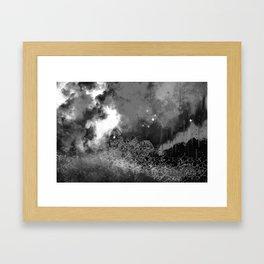 """""""The Crystal Forest"""" (Black & White) Digital Painting // Fine Art Print Framed Art Print"""