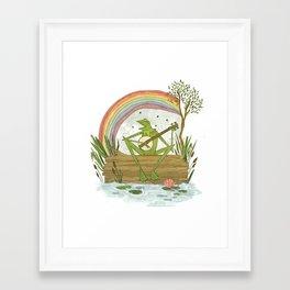 Rainbow Connection Framed Art Print