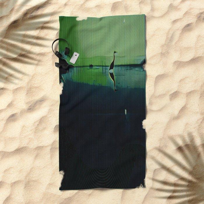 Marsh in Spring Beach Towel