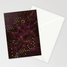 Brown, orange and purple tangle Stationery Cards