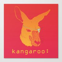 kangaroo Canvas Prints featuring Kangaroo: by Andrea Mantani